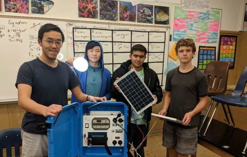 Engineering Club Builds 'Solar Suitcase'