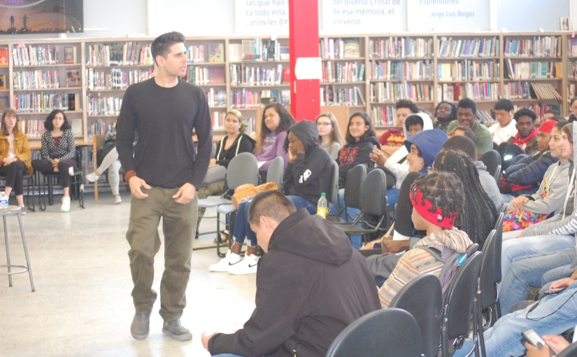 Famous Poet Speaks to Skyline Students